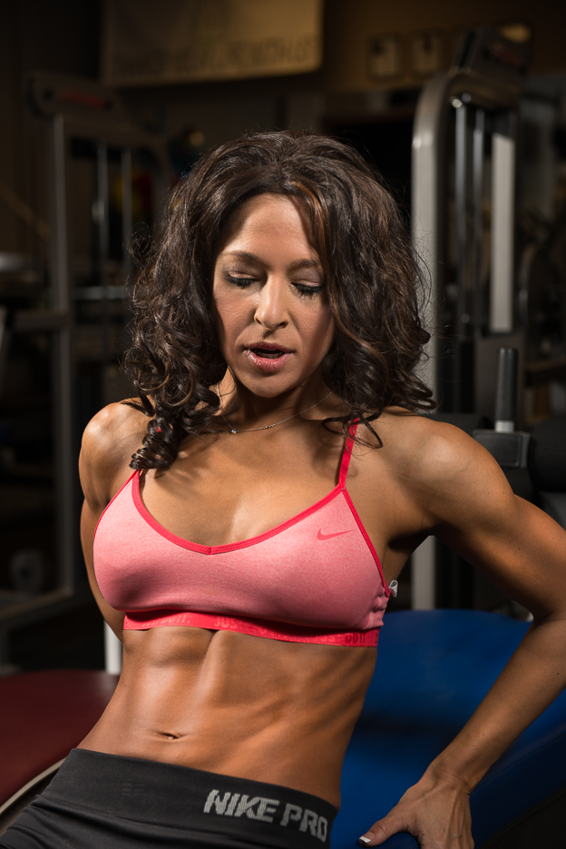 Vanessa Cobb, training for her first competition